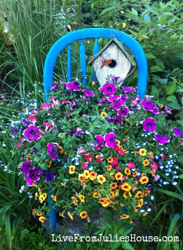 old chair planter