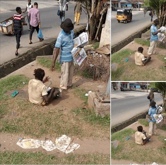 mad man buying newspaper - livefromnaija.com