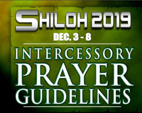 Shiloh 2019 prayer guidelines