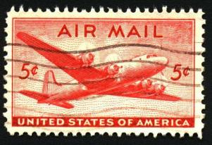 Skymaster Airmail Stamp