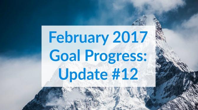 February 2017 Goal Progress Update 12