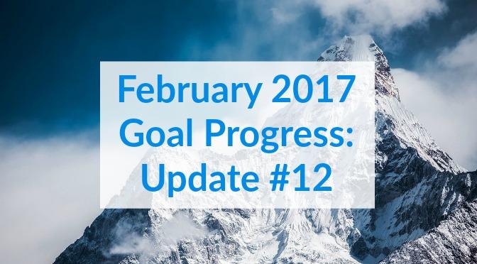 February 2017 Goal Progress: Update #12