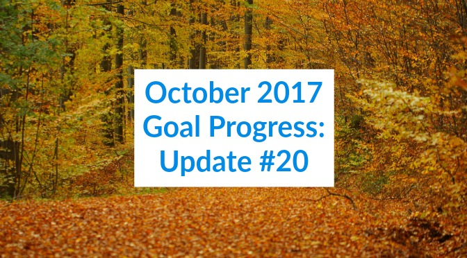 October 2017 Goal Progress: Update #20