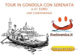 Tour in Gondola con serenata solo con Liveinvenice.it