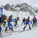 Sul ghiacciaio Presena, l'Adamello Ski Raid Junior