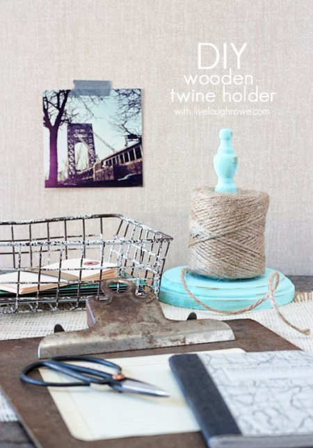 DIY Wooden Twine Holder | Live Laugh Rowe