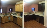 DIY painting kitchen cabinets - Before and after pics!