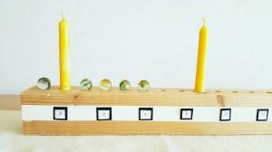DIY-Adventskalender aus Holz mit Murmeln