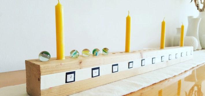 DIY-Adventskalender aus Holz zum Selberbauen