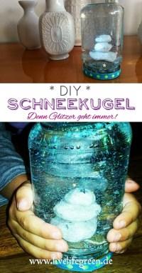 Pinterest-Pin: DIY Schneekugel zum einfach Selbermachen