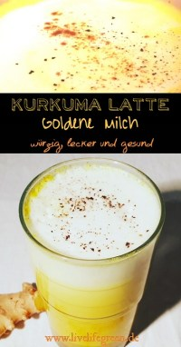 Pinterest-Pin: Kurkuma Latte