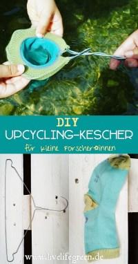 Pinterest-Pin: Upcycling-Kescher