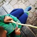 Grüne Lieblinge im September Taschenmesser schnitzen