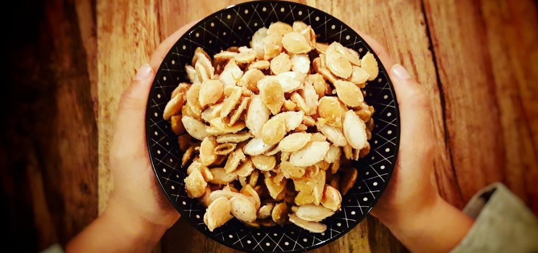 Gebrannte Kürbiskerne - Süße Resteküche