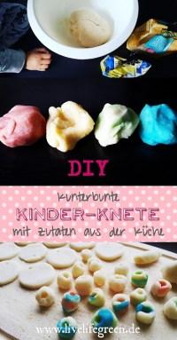 Pinterest-Pin: Bunte Kinder-Knete selber machen