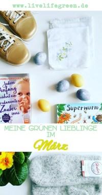 Pinterest-Pin: Grüne Lieblinge im März