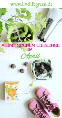 Pinterest-Pin: Grüne Lieblinge im April 2018