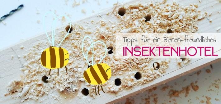 Tipps für ein artgerechtes Insektenhotel für Wildbienen und Co.