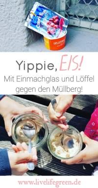 Pinterest-Pin: Zerowaste Eis