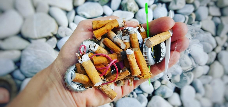 Kippen und Zigarettenstummel sind umweltschädlich und Gift für unsere Natur