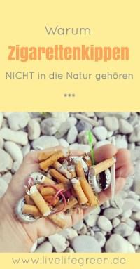 Pinterest-Pin: Warum Zigarettenstummel und Kippen so umweltschädlich sind