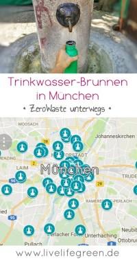 Pinterest-Pin: Trinkwasser-Brunnen in München