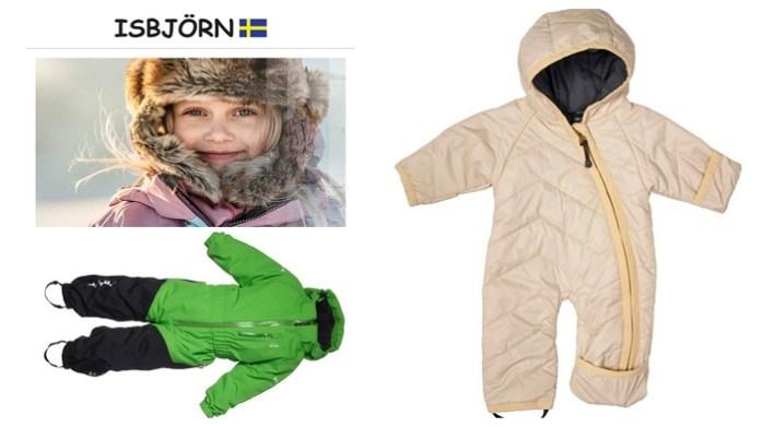Faire und nachhaltige Winterjacken und Schneeanzüge für Kinder Isbjörn of Sweden