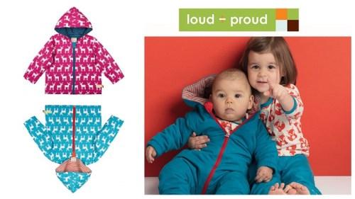 Faire und nachhaltige Winterjacken und Schneeanzüge für Kinder Loud & Proud