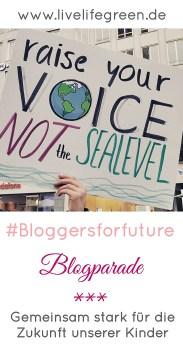 #bloggersforfuture: Blogparade von livelifegreen aus Solidarität für unsere Kinder