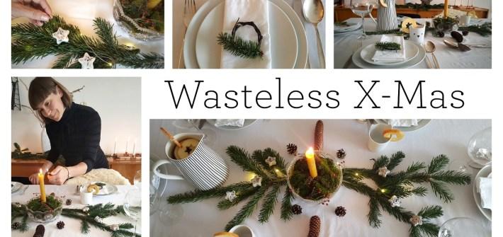 Nachhaltige Tischdekoration für Weihnachten Zero Waste und ohne Müll