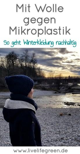 Mit Wolle gegen Mikroplastik im Wasser: Nachhaltige Winterjacken aus Naturmaterial (Pinterest-Pin)