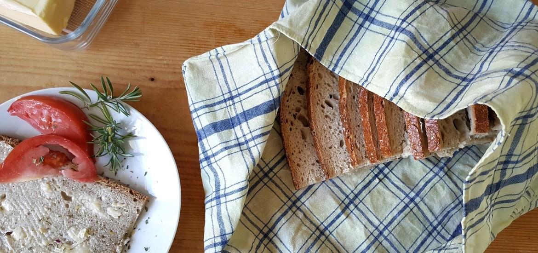 Upcycling-Brotbeutel aus Bienenwachstuch - Zero Waste-DIY