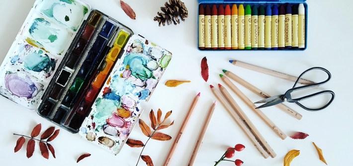 Nachhaltiges Bastelmaterial für Schule und Zuhause - ökologische Farben, Stifte und Co.