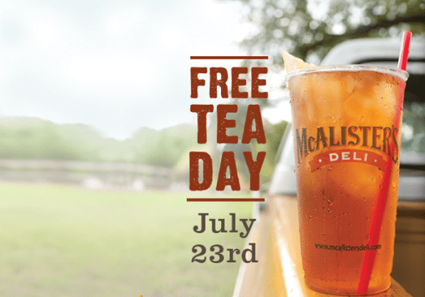 Free-tea-day-Mcalisters-deli