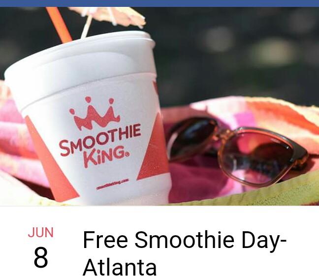 smoothie king free day