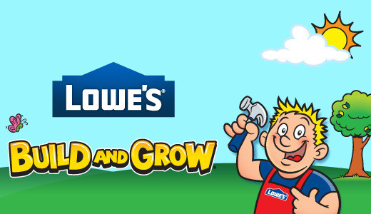 Kids Events at lowes for Build and Grow