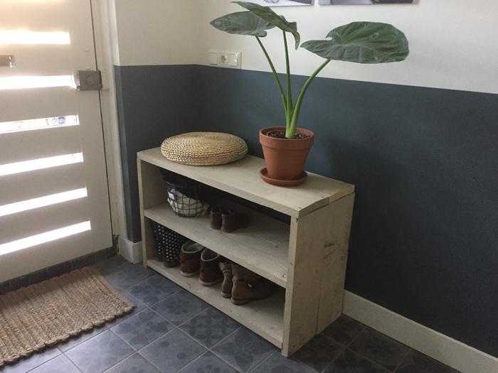 DIY Schoenenrek van steigerhout  LiveLoveHome