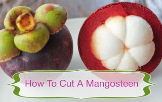 How to cut a mangosteen, manggis