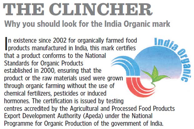 Image result for organic certified products in india