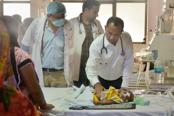 Apart from the six cases of encephalitis, the other children deaths at BRD Hospital in Gorakhpur were of terminally ill newborns. Photo: PTI