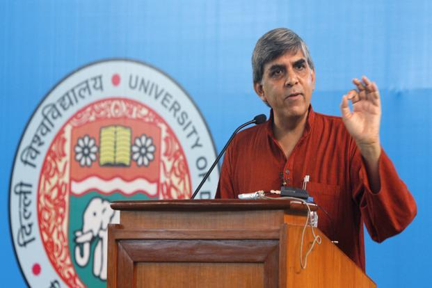 A file photo of Dinesh Singh, vice-chancellor of Delhi University. Photo: HT