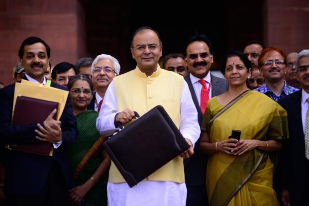 Image result for pics of jaitley -- budget