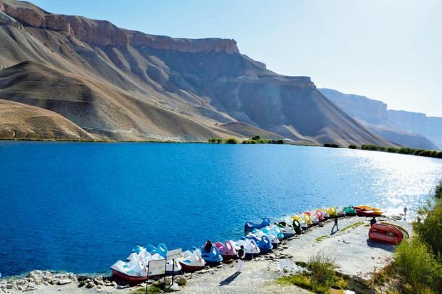 One of the Band-e-Amir lakes. Photo: Naimat Rawan