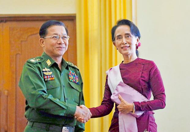 Image result for Min Aung Hlaing, photos