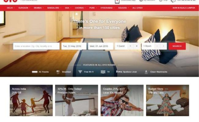 Oyo Rooms Starts Offering Holiday Packages Livemint