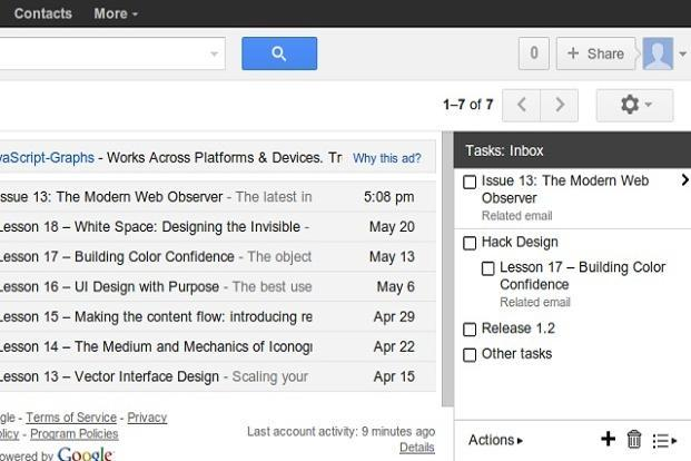 Users can use this extension to merge tasks with mails.
