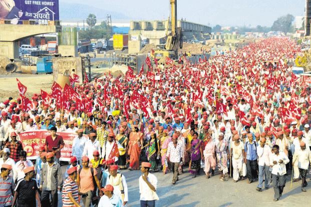 Image result for Maharashtra: Protesting farmers reach Mumbai