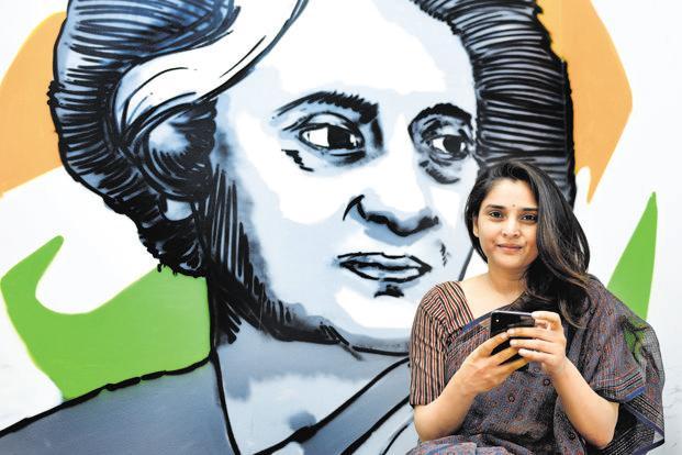 Divya Spandana was handpicked by Congress president Rahul Gandhi to lead the party's social media cell. Photo: Priyanka Parashar/Mint