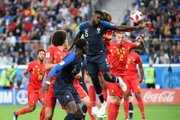 Image result for umtiti goal against belgium