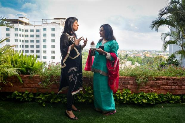 Arathi Krishna (left), joint managing director at Sundram Fasteners, and Vandana Gopikumar, co-founder of The Banyan, a mental health NGO. Photo: Nathan.G/Mint
